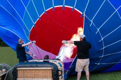 Hot Air Balloon Inflation