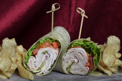 Chicken Wraps And Chips