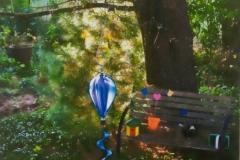 Backyard Balloon And Bench