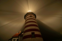 Foggy Night At The Lighthouse