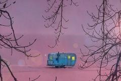 Sacandaga Lake Trailer At Sunset