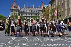 Street Scrubbing Kicks Off Albany Tulip Festival