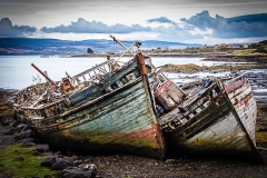 Abandoned Fishing Boats On Mull