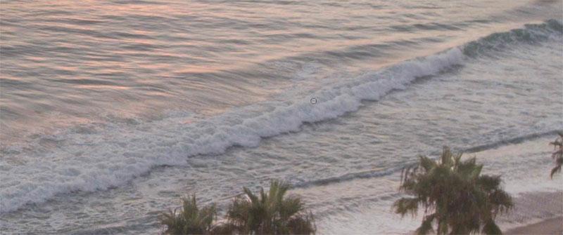 the surf on the beach
