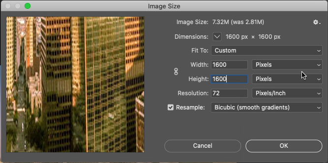 make an image squaee in photoshop