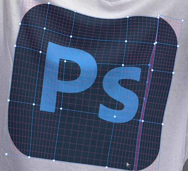 photoshop warp grid