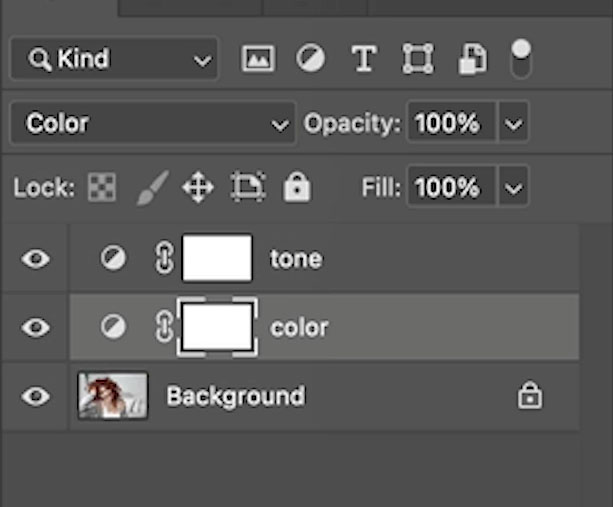 color and tone layers