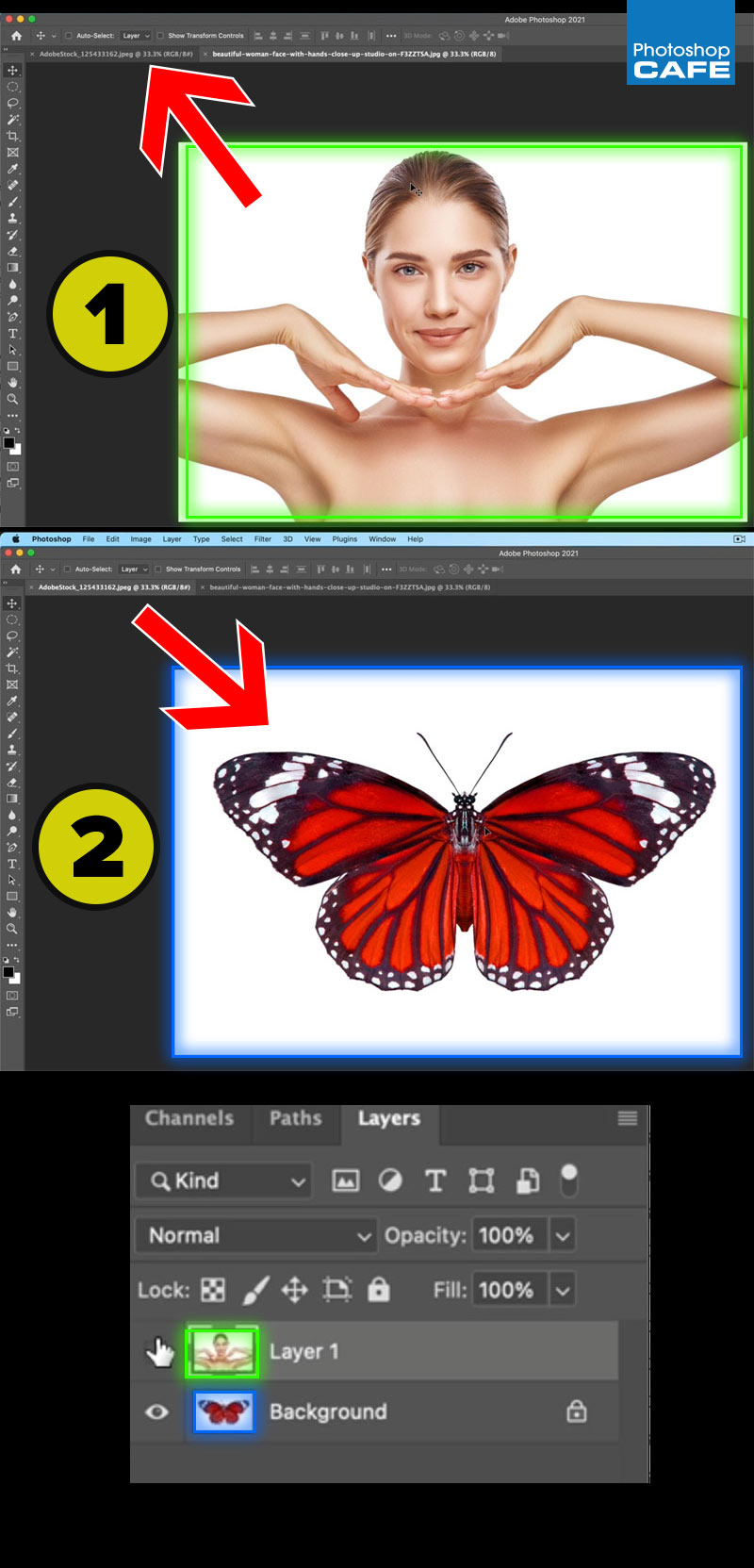 how to combine images in photoshop photoshopCAFE tutorial