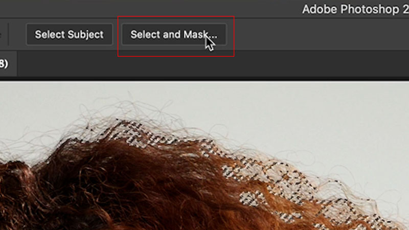 select and mask in Photoshop 2021