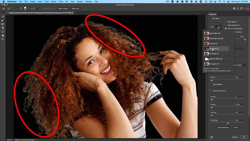 edge halos in photoshop selections