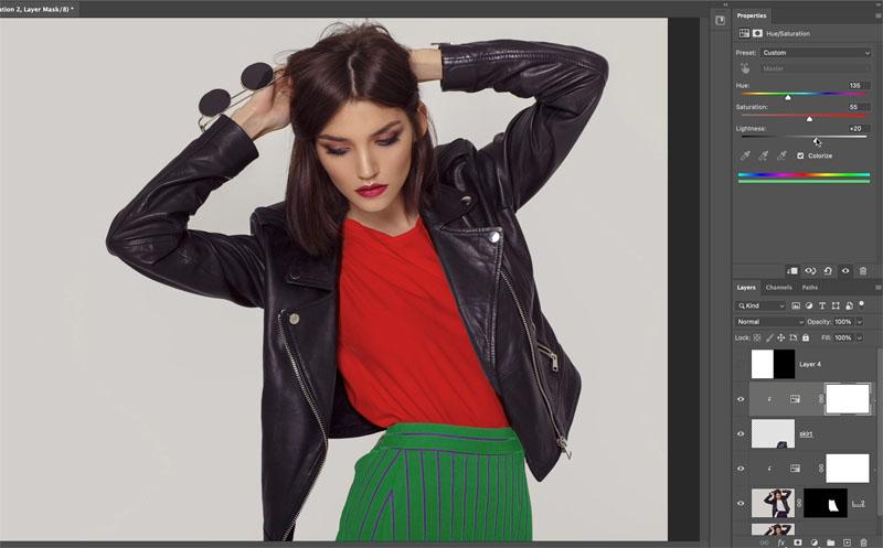 change color of skirt