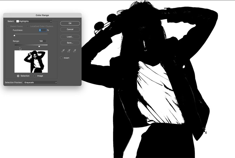selecting white in photoshop