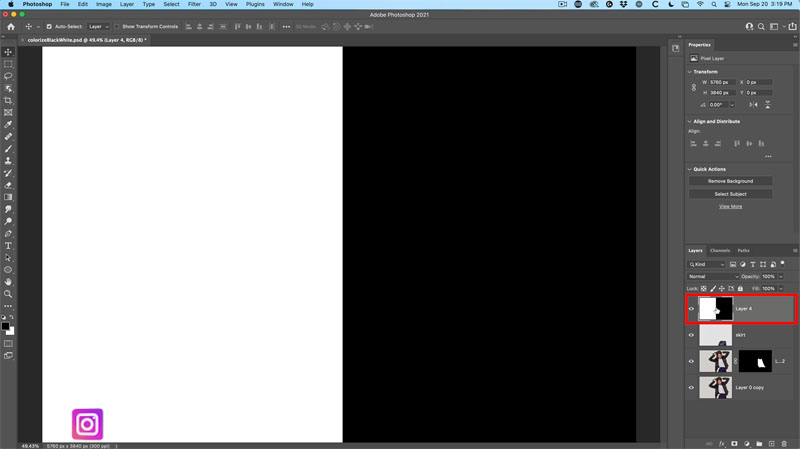 change white to color in photoshop