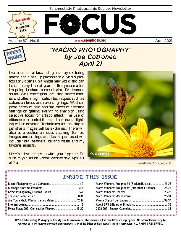 Lastest FOCUS newsletter