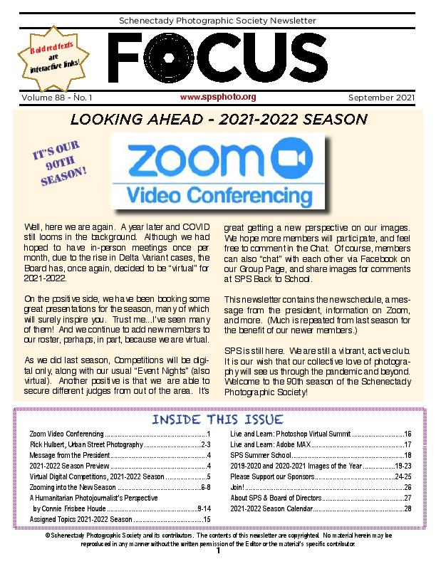 Lastest FOCUS newsletter
