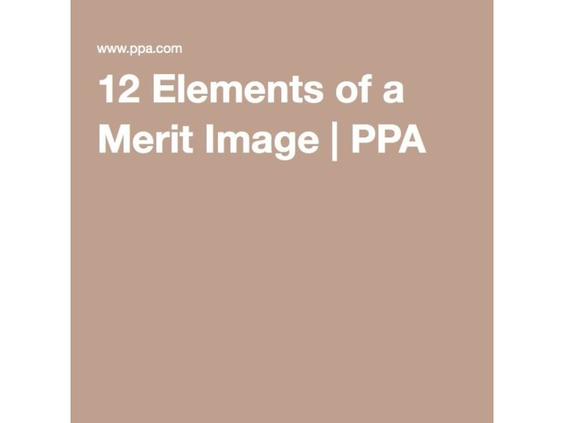 12 Elements of a Merit Image
